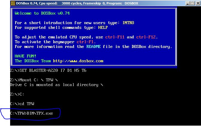 tpw dosbox