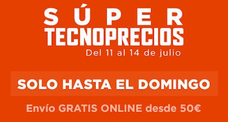 Top 15 ofertas Súper Tecnoprecios, del 11 al 14 de julio de El Corte Inglés