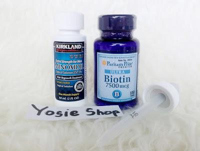 Paket New Kirkland Minoxidil Original dan Puritan's Biotin Original Untuk Penumbuh Brewok Ampuh