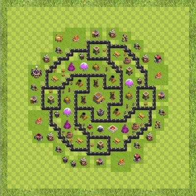 War Base Town Hall Level 8 By Islamuddin Khan (M TH 8 Layout)