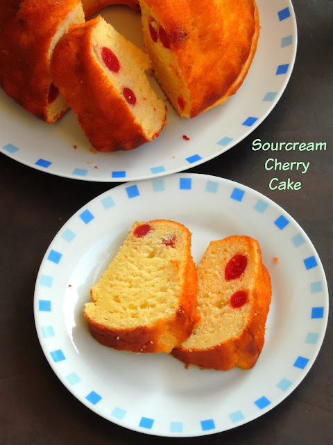 Cherry Sourcream Cake