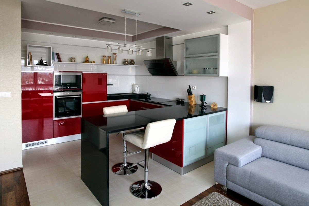 Idee appartamento con soggiorno angolo cottura