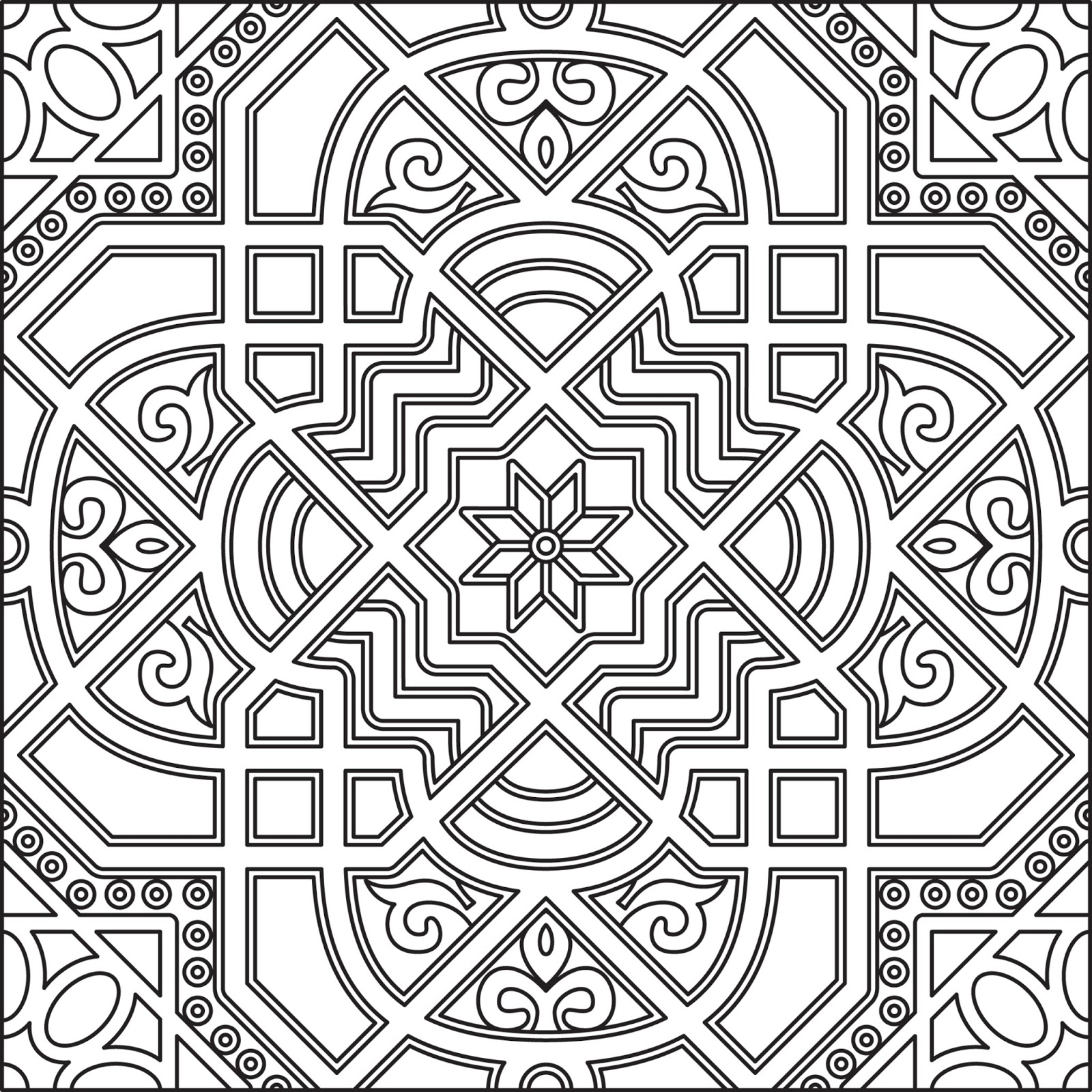 black and white islamic art design