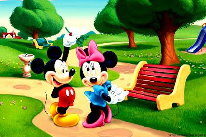 Wallpaper Hp Mickey Mouse Merah
