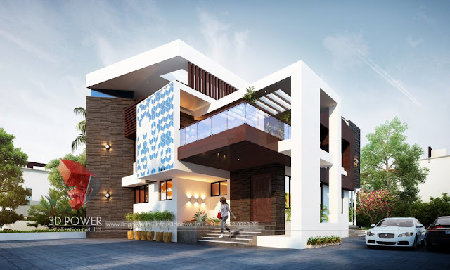 Outstanding Villa Elevation & 3D Front Elevation for modern home