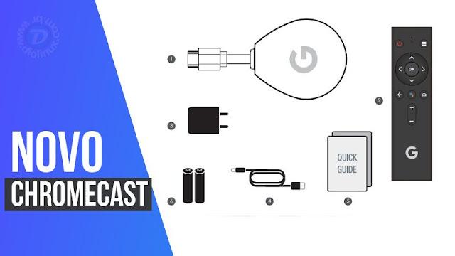 Google Chromecast novo