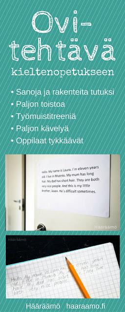Toiminnallinen ovitehtävä kielten tunneille