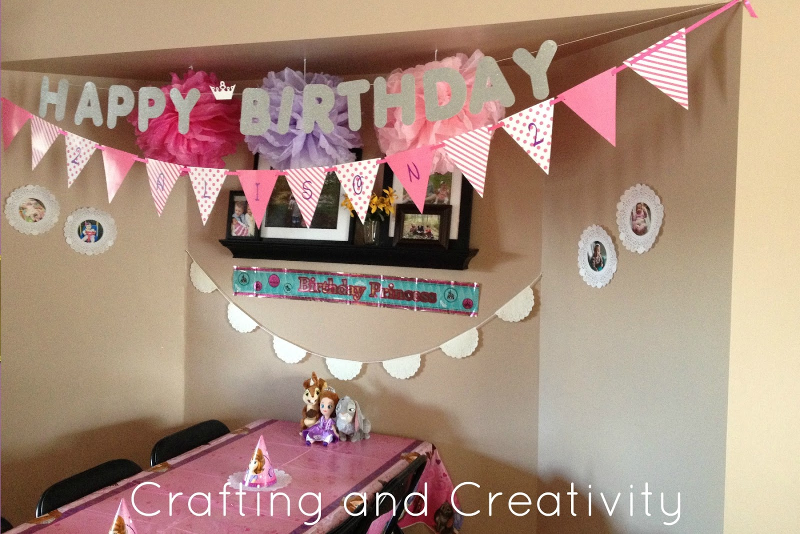Crafting and creativity my daughter 39 s 2nd birthday party for 2nd birthday decoration