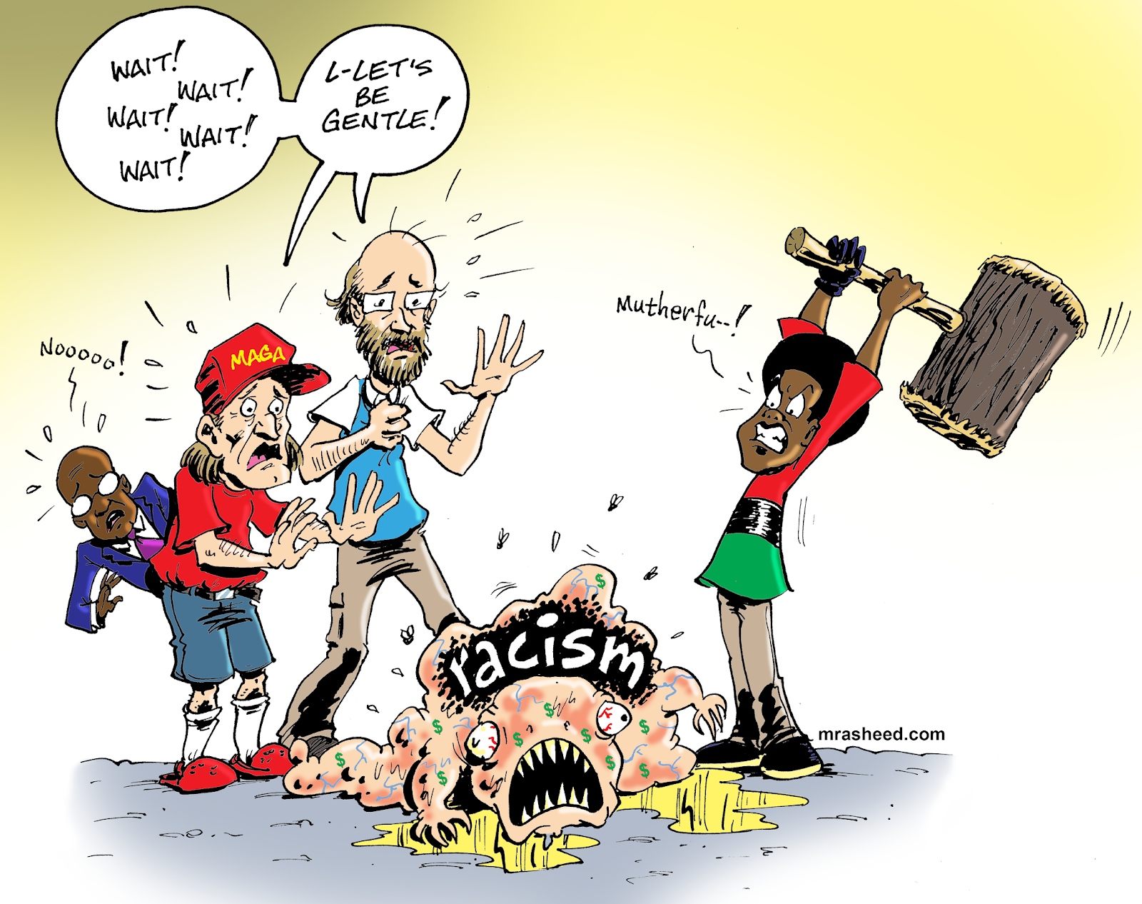 The Official Website of Cartoonist M  Rasheed: CURING RACISM