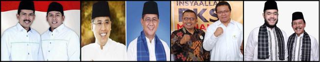 Empat Pasang calon walikota dan wakil walikota Kota Padang Panjang 2018