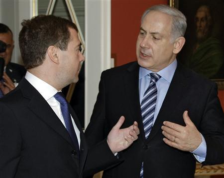 Netanyahu y Medvedev