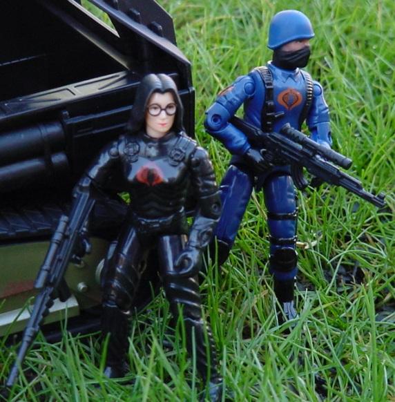 1984 Baroness, Wild Weasel, Rattler, 2004 Cobra Trooper