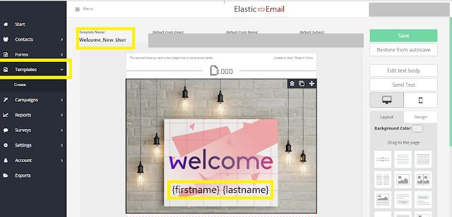 Elastic Mail Template Designer