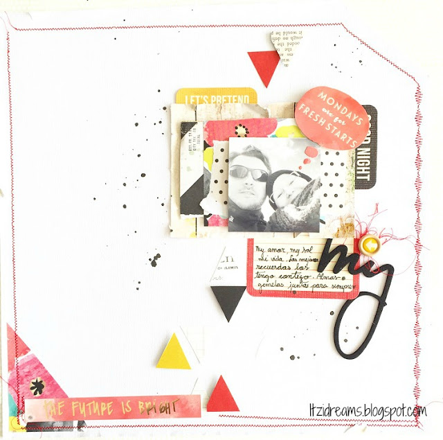 Lay Out, scrap, scrapbook, scrapbooking, Cosido, Dear Lizzy, American Craft.