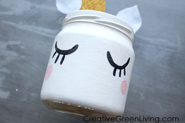 How to make a unicorn mason jar