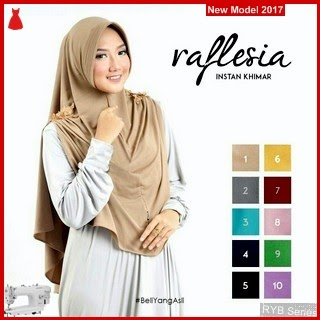 RYB044B Jilbab Instant Cantik Khimar Murah Raflesia BMG Online Shop