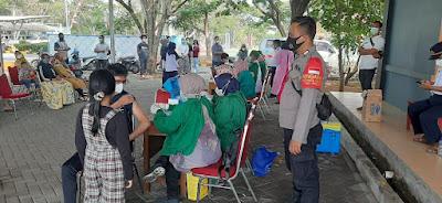 Warga Karang Serang Terima Vaksinasi Tahap Kedua di BP2IP Sukadiri