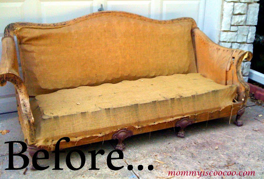 Antique Couch to Deconstructed Bench