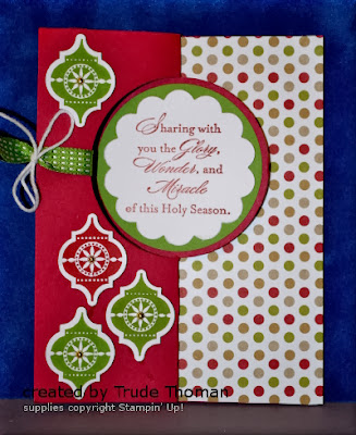 Christmas card, Flip card, Stamp with Trude, Stampin' Up!, Tags 4 You