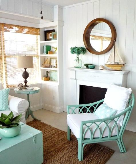 12 Small Coastal Beach Theme Living Room Ideas with Great ...