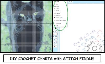 chart, crochet, crochet symbols, diagram, DIY, downloadable, filet crochet, free, graph, how to, make your own, Stitch Fiddle, tutorial