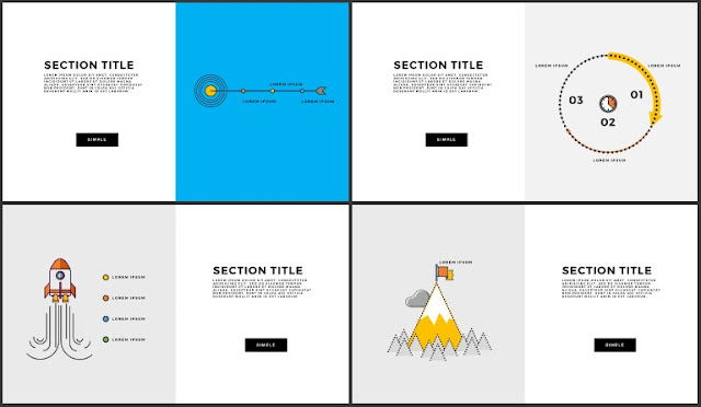 Free Infographic Section Titles PowerPoint Template Slide 9-12