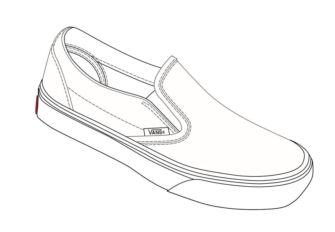 Template Slip Shoe Vans