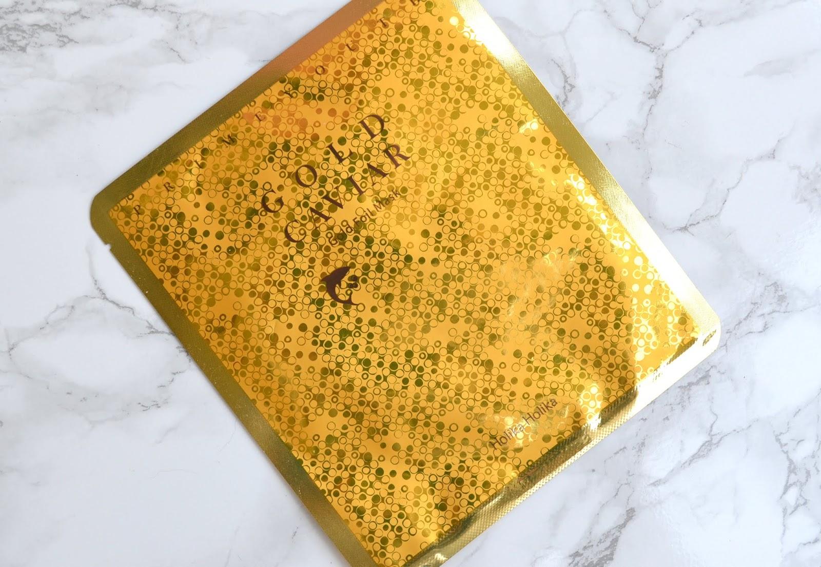 KBEAUTY | Holika Holika Gold Caviar Foil Mask | Cosmetic