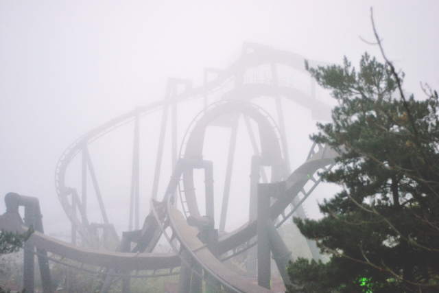 Nemesis Inferno in Thorpe Park fog