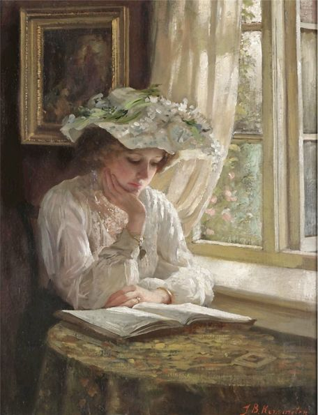 Кеннингтон Томас Бенджамин Kennington Thomas Benjamin- Леди, читающая у окна