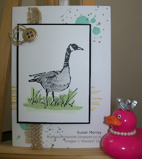 Stampin' Up! Made by Independent Stampin' Up! Demonstrator Susan Merrey Craftyduckdoodah! Wetlands and Gorgeous Grunge