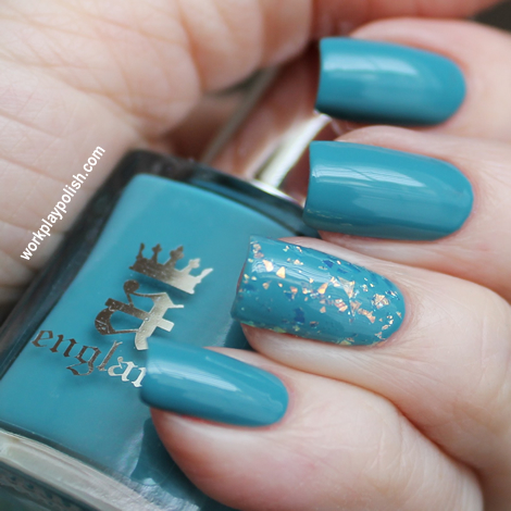 a-england Galahad with China Glaze Luxe and Lush