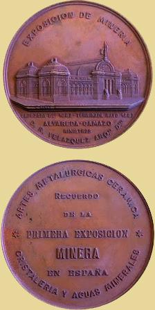 Medalla del Centenario de la I Exposición Minera de España 1993