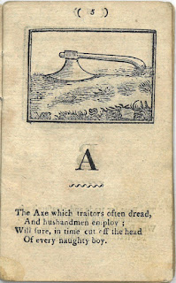 "Image of an Axe on the ground illustrating the rhyme of ""A"""
