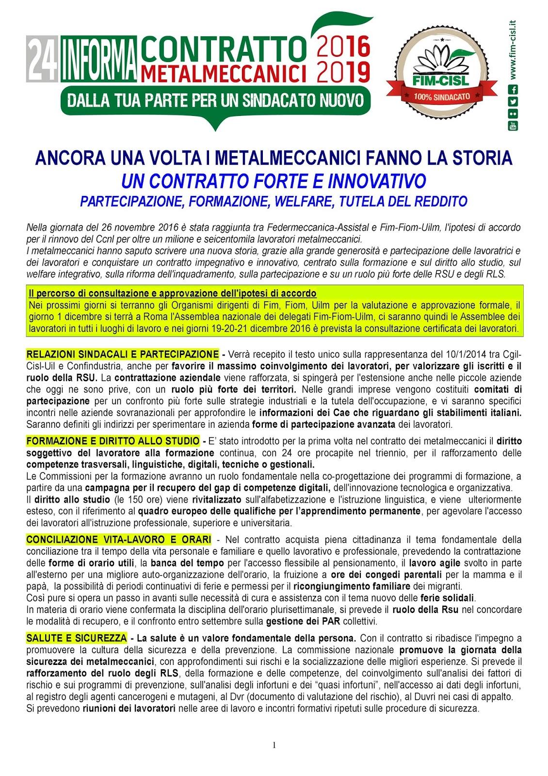 Fim cisl milano metropoli rinnovo contratto for Contratto 3 2