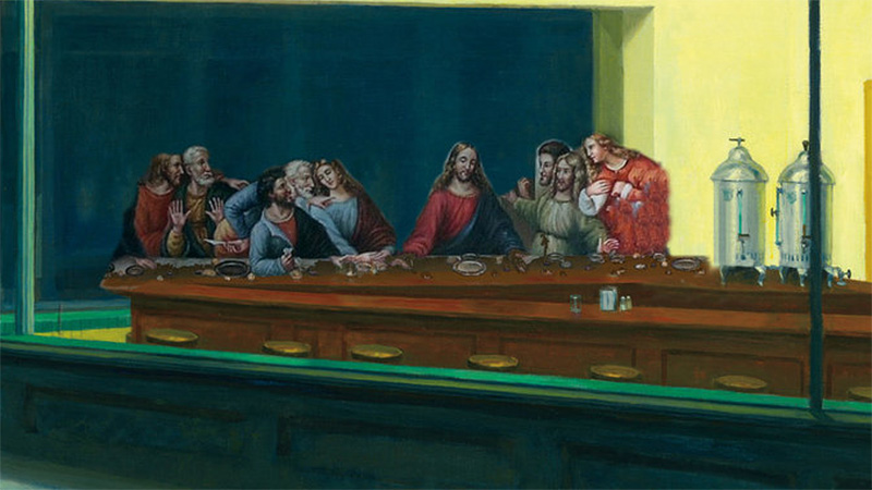 The Nighthawks Last Supper (an homage to Edward Hopper) by brandtk