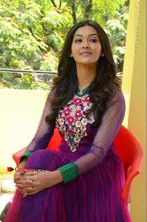 Actress Pooja Jhaveri Latest Stills in Purple Salwar Kameezt at Dwaraka Success Meet  0183.JPG
