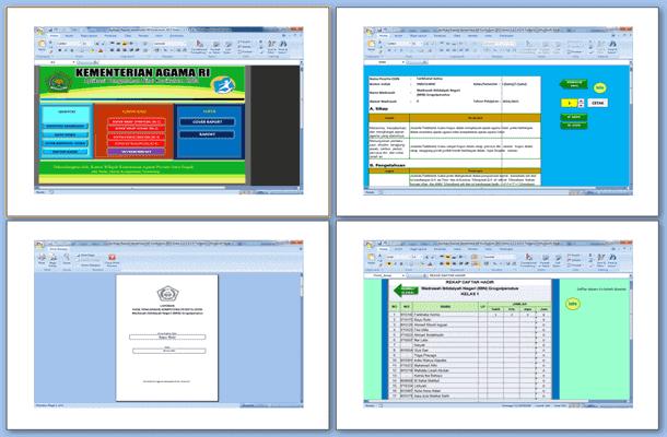 Aplikasi Raport MI Kurikulum 2013 Download Format Microsoft Excel