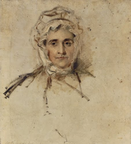 Sir Thomas Lawrence, Portrait (sketch) of Lucy Lawrence, the Artist's mother, 1797