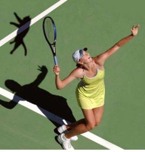 Funny Woman Tennis Cat Service Joke Picture