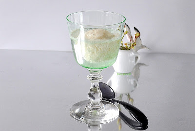 Birnensorbet auf Gin and Tonic