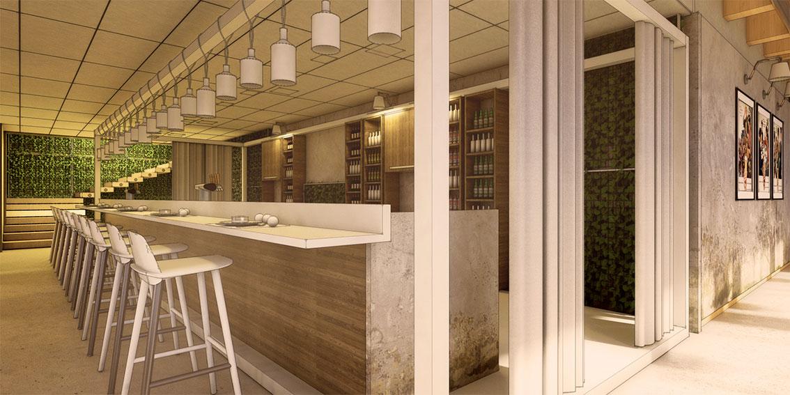 Restaurant Interior 3d Model Free : Sketchup texture free d model modern bar