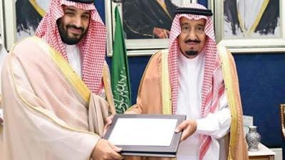 الملك سلمان ونجله محمد بن سلمان
