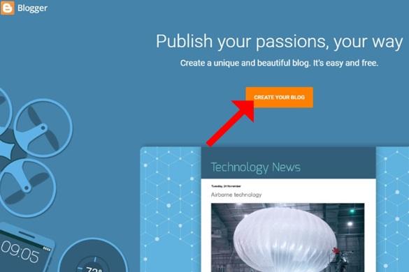 Cara Termudah Membuat Blog Baru Gratis di Blogger Blogspot Tampilan Terbaru