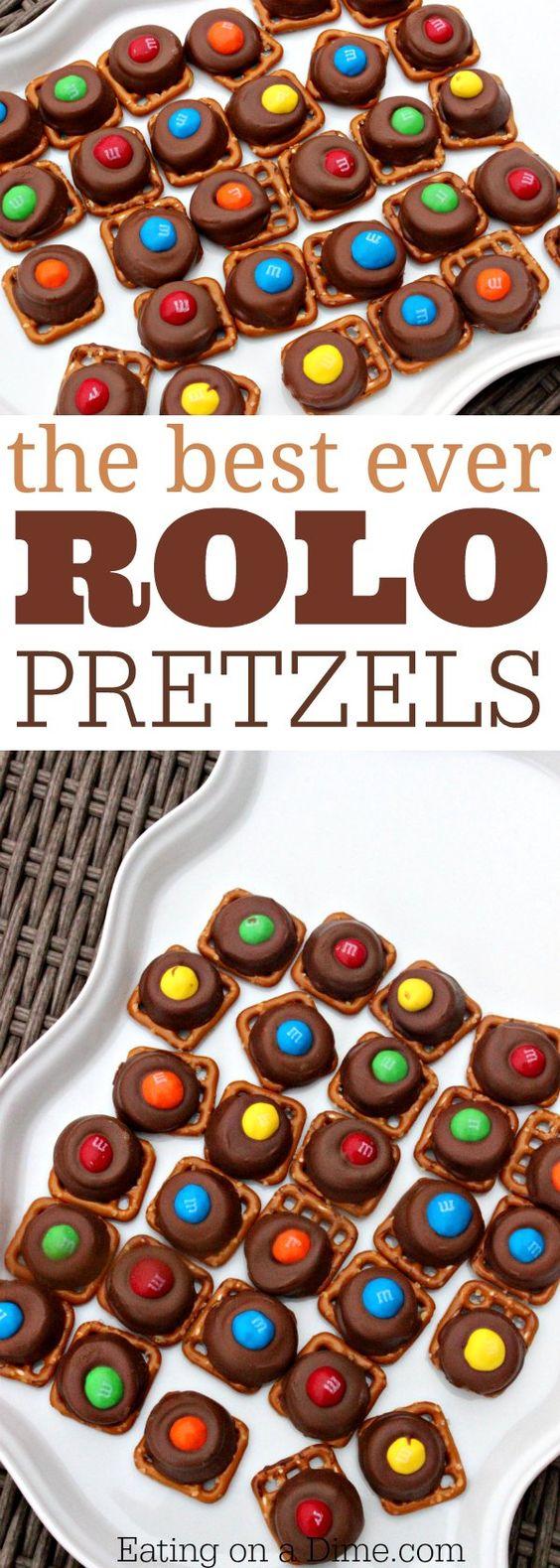 QUICK AND EASY ROLO PRETZELS