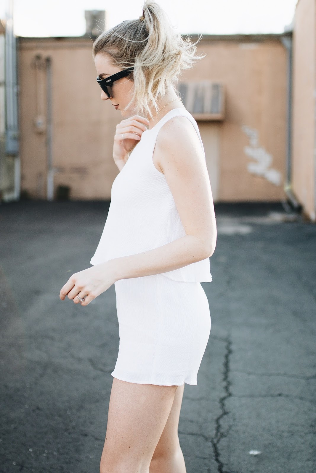 romper with ruffles