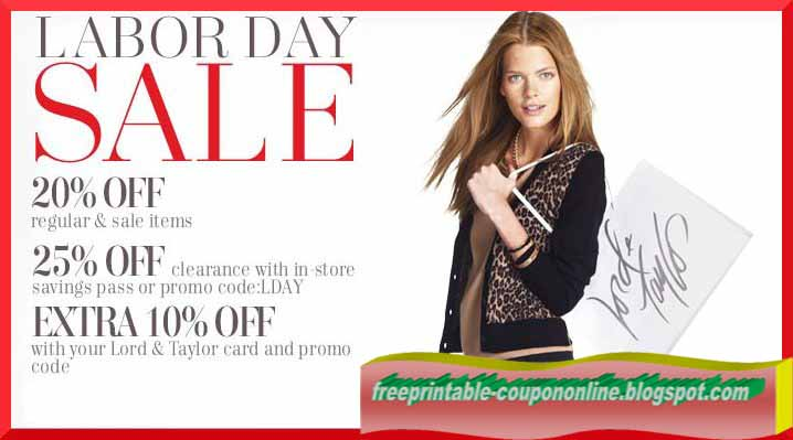 photograph relating to Lord and Taylor Printable Coupon named Printable Discount coupons 2019: Lord Taylor Coupon codes