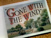 Imagen : Postal de Lo que el viento se llevó