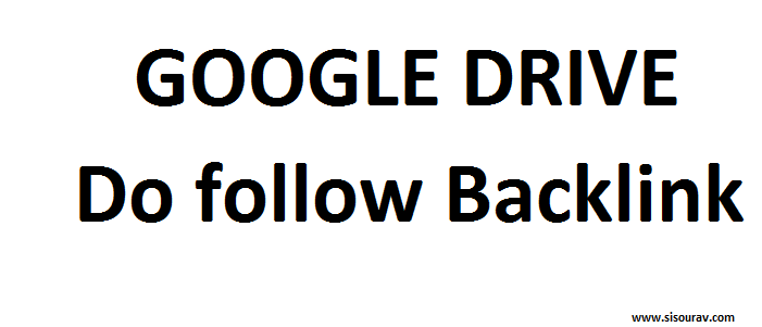 How to get dofollow backlink from google drive