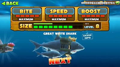 Hungry shark cheat semua maksimal